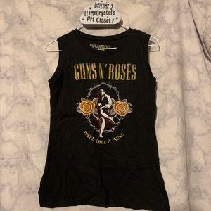 Guns N Roses juniors tank size Large